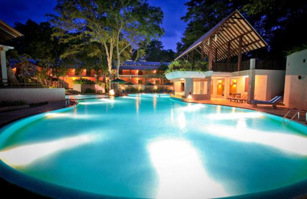 Udawalawe swimming pool night view